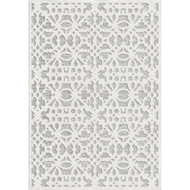 Orian Rugs Olenna 8 x 10 Natural Indoor/Outdoor Floral/Botanical Farmhouse/Cottage Area Rug
