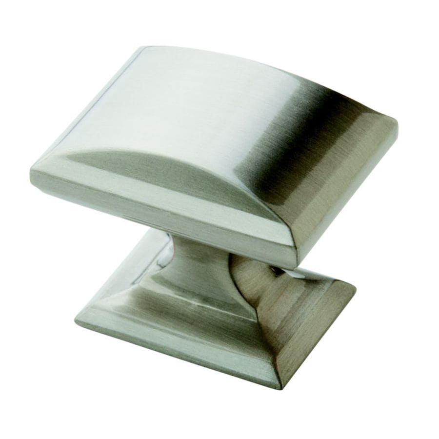 Lowes bathroom cabinet knobs - Amerock Candler Satin Nickel Rectangular Cabinet Knob