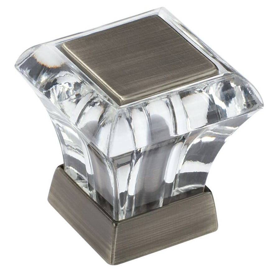 Wonderful Amerock Abernathy Antique Silver Square Cabinet Knob