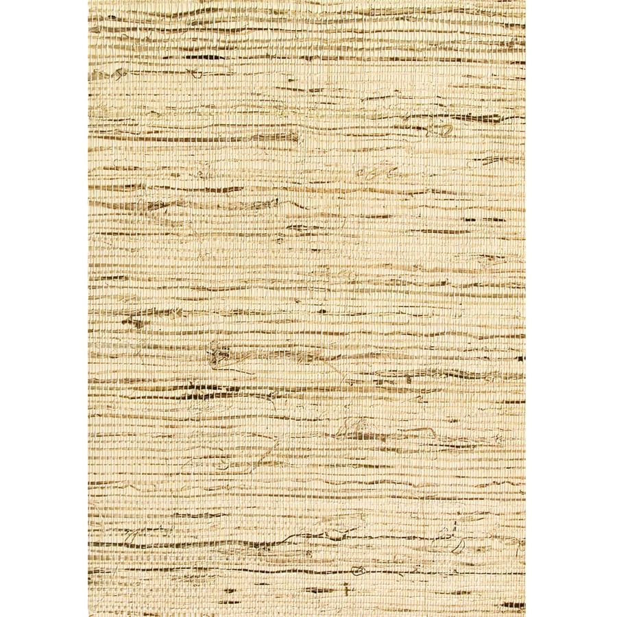 Waverly Brown Grasscloth Unpasted Textured Wallpaper