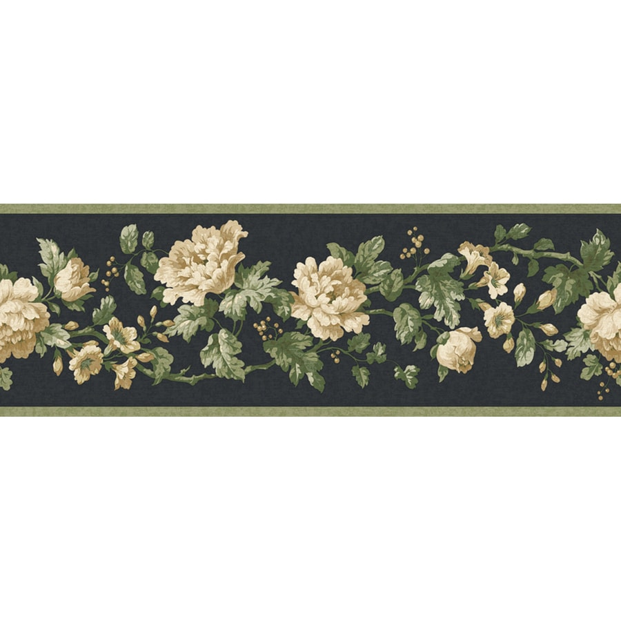 Allen Roth 4 12 In Black Prepasted Wallpaper Border At Lowes Com