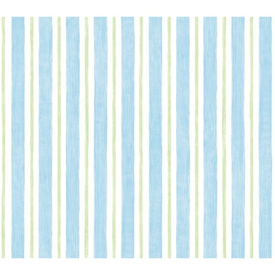 Disney Blue And Green Stripe Wallpaper At Lowes Com