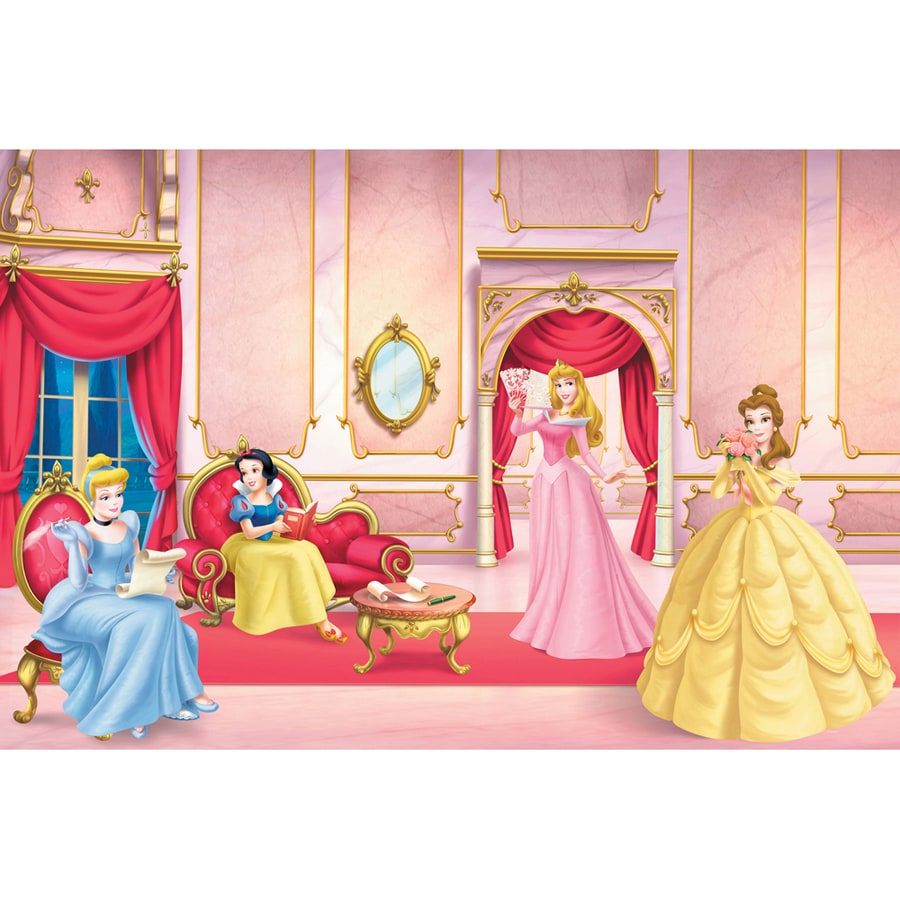 Shop disney ballroom princess mural at for Disney princess mural asda