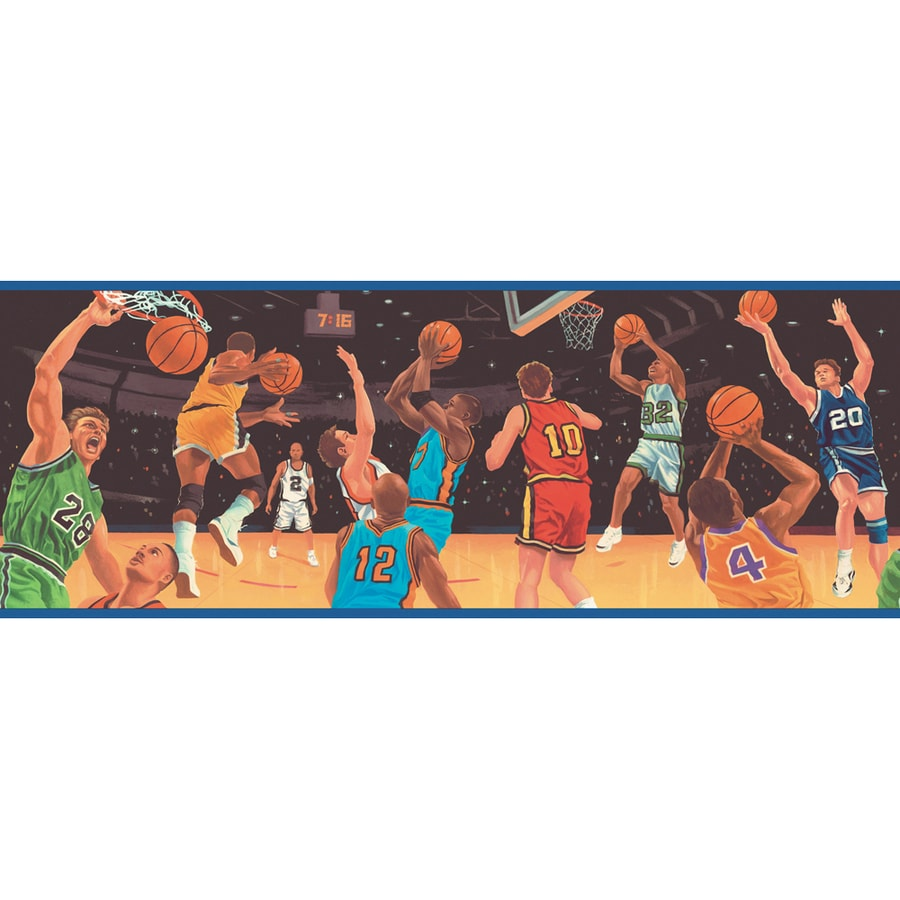 Allen Roth 9 Primary Colored All Dunks Prepasted Wallpaper Border