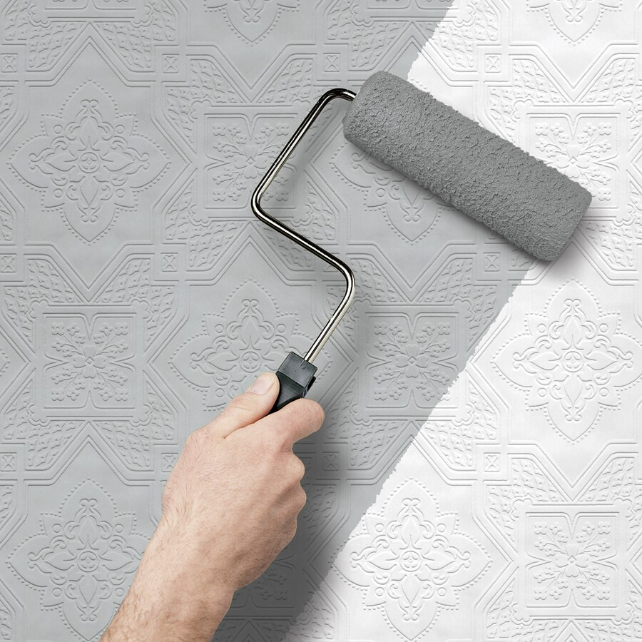 allen + roth Peelable Vinyl Prepasted Paintable Wallpaper