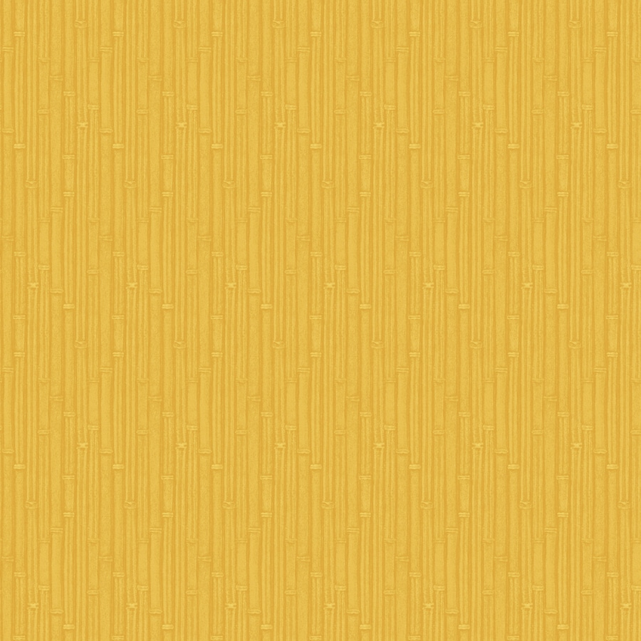 Allen Roth Yellow Peelable Vinyl Prepasted Textured Wallpaper