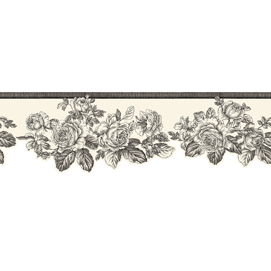 Allen Roth 5 75 In Black Prepasted Wallpaper Border
