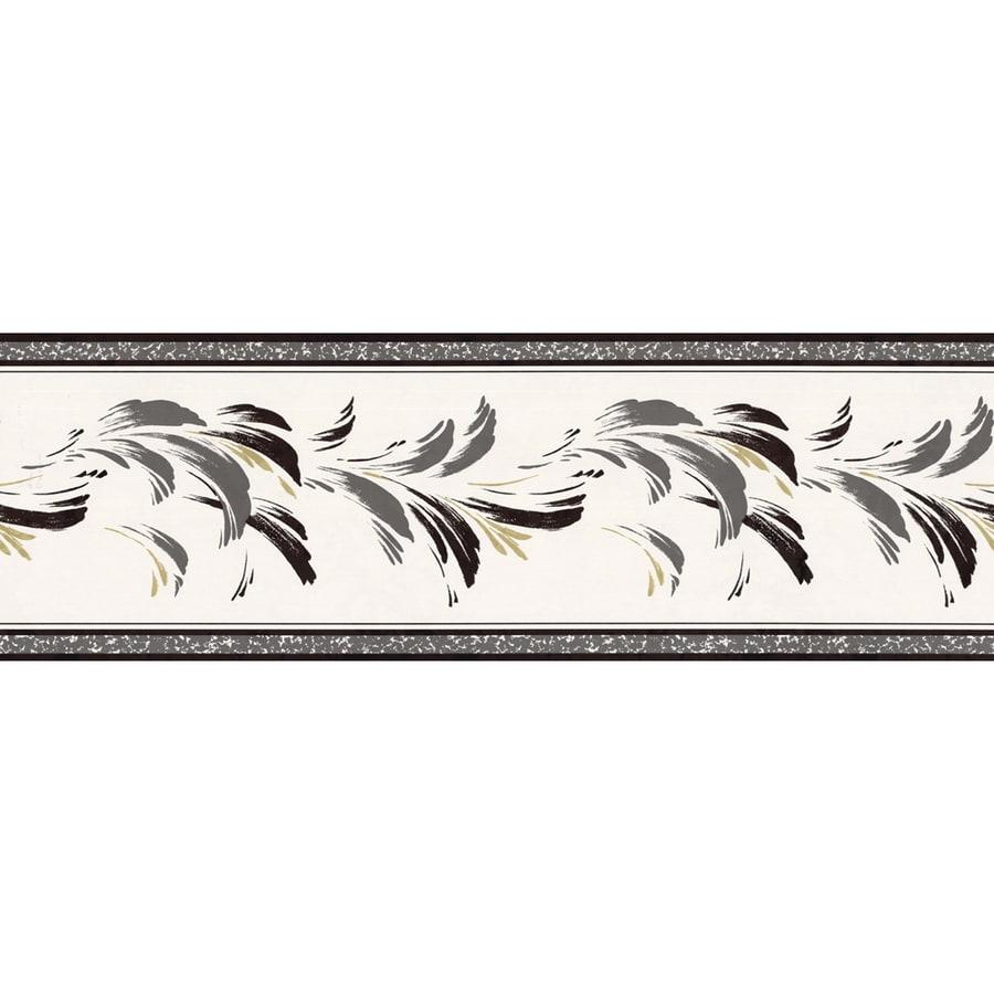 shop allen roth black prepasted wallpaper border