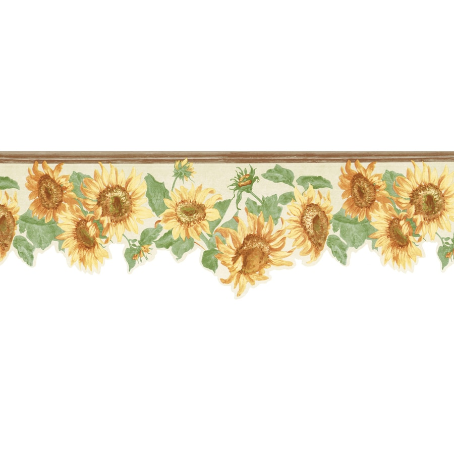 Allen Roth 9 Yellow Sunflower Prepasted Wallpaper Border