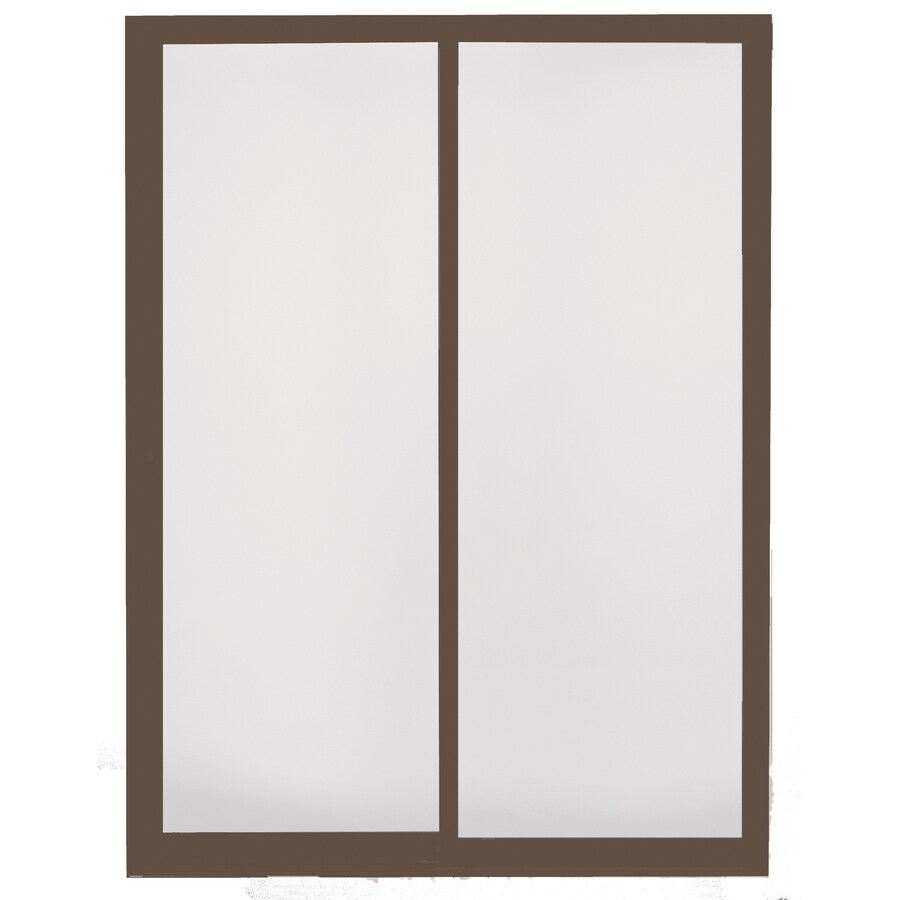 BetterBilt 470 Series 72-in Grid Glass Aluminum Sliding Patio Door with Screen