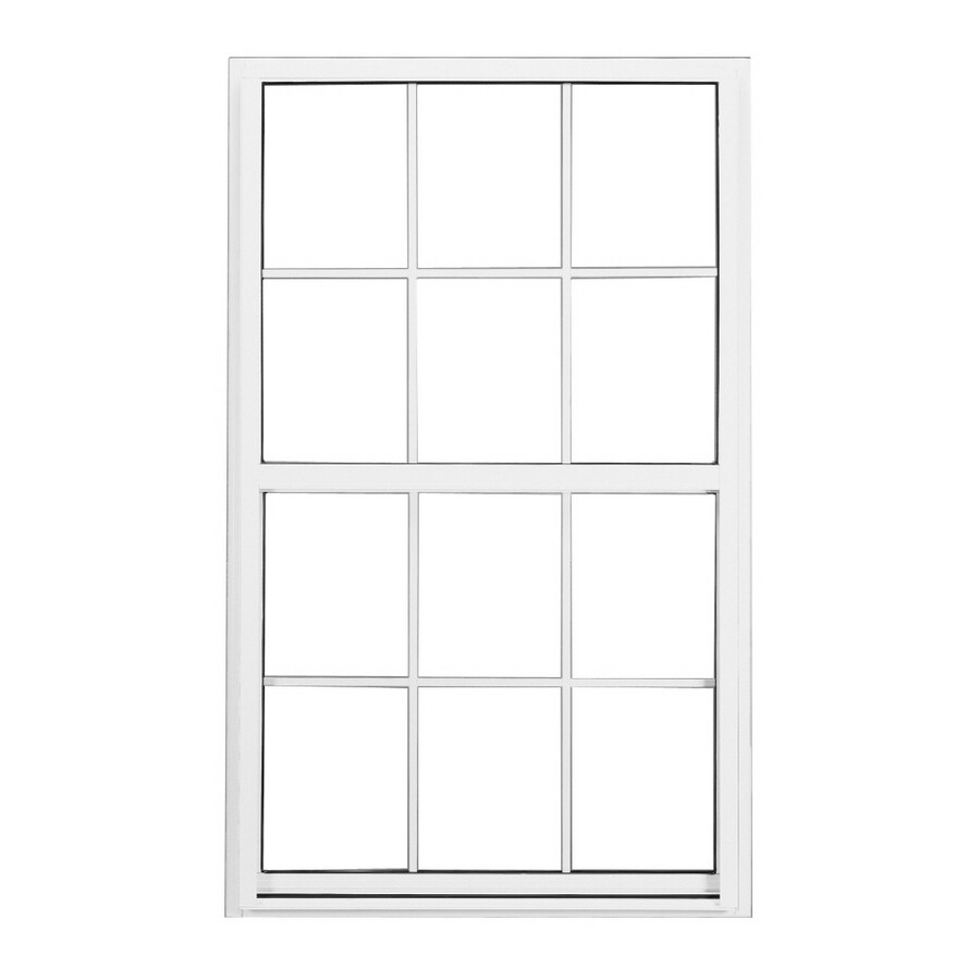 BetterBilt 3740 Series Aluminum Double Pane Single Strength Single Hung Window (Rough Opening: 36-in x 36-in; Actual: 35.25-in x 35.25-in)