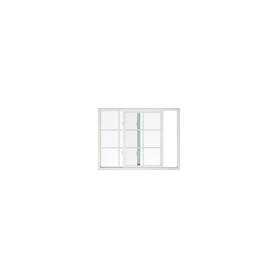 BetterBilt 875 Series Left-Operable Aluminum Double Pane Single Strength New Construction Sliding Window (Rough Opening: 48-in x 48-in; Actual: 47.25-in x 47.5-in)