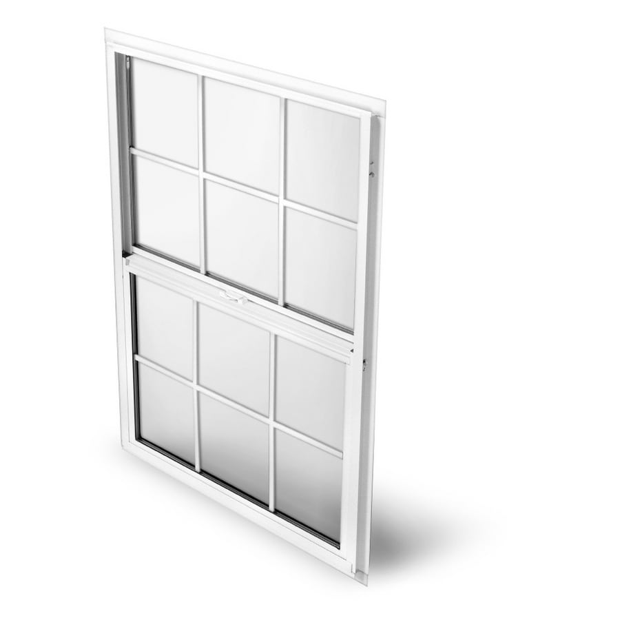 BetterBilt 865 Series Aluminum Double Pane Single Strength Single Hung Window (Rough Opening: 36-in x 36-in; Actual: 35.25-in x 35.5-in)