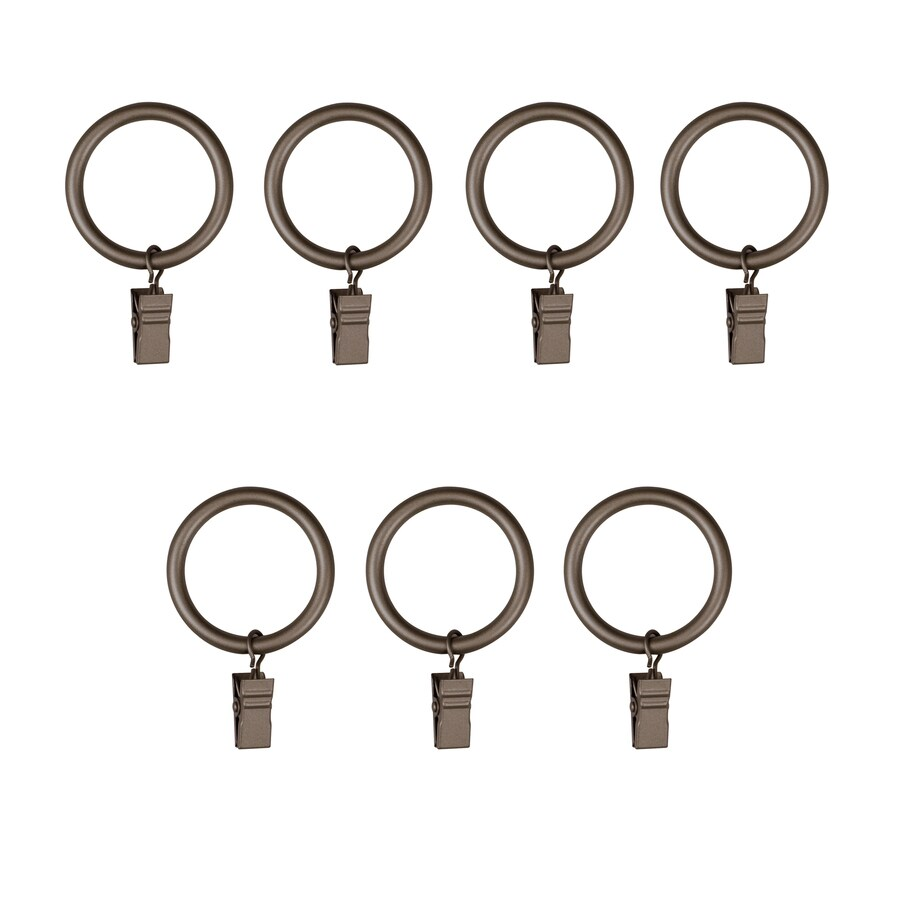 Umbra Clip Ring 7-Pack 1.75-in Pewter Steel Curtain Rings