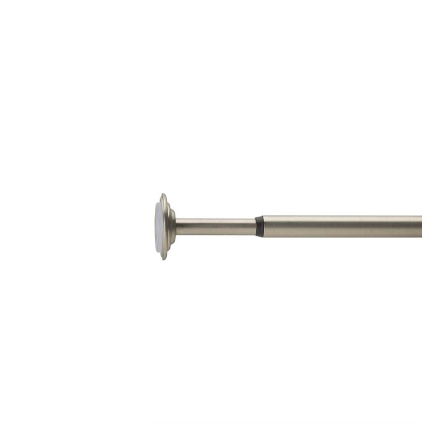 Umbra Coretto Rod Set 36-in to 54-in Nickel Steel Single Curtain Rod