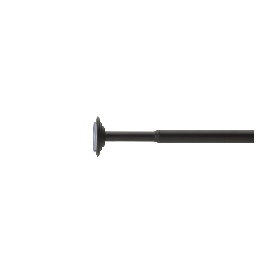 Umbra 48-in to 88-in Black Steel Single Curtain Rod