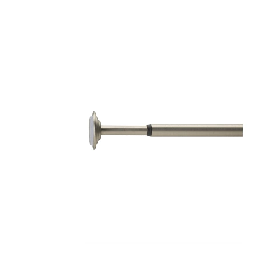 Umbra 48-in to 88-in Nickel Steel Single Curtain Rod