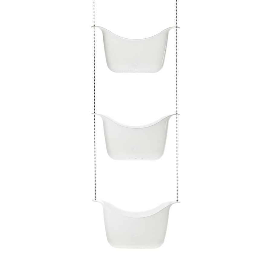 Umbra 11.25-in H Plastic Tension Pole Freestanding Shower Caddy