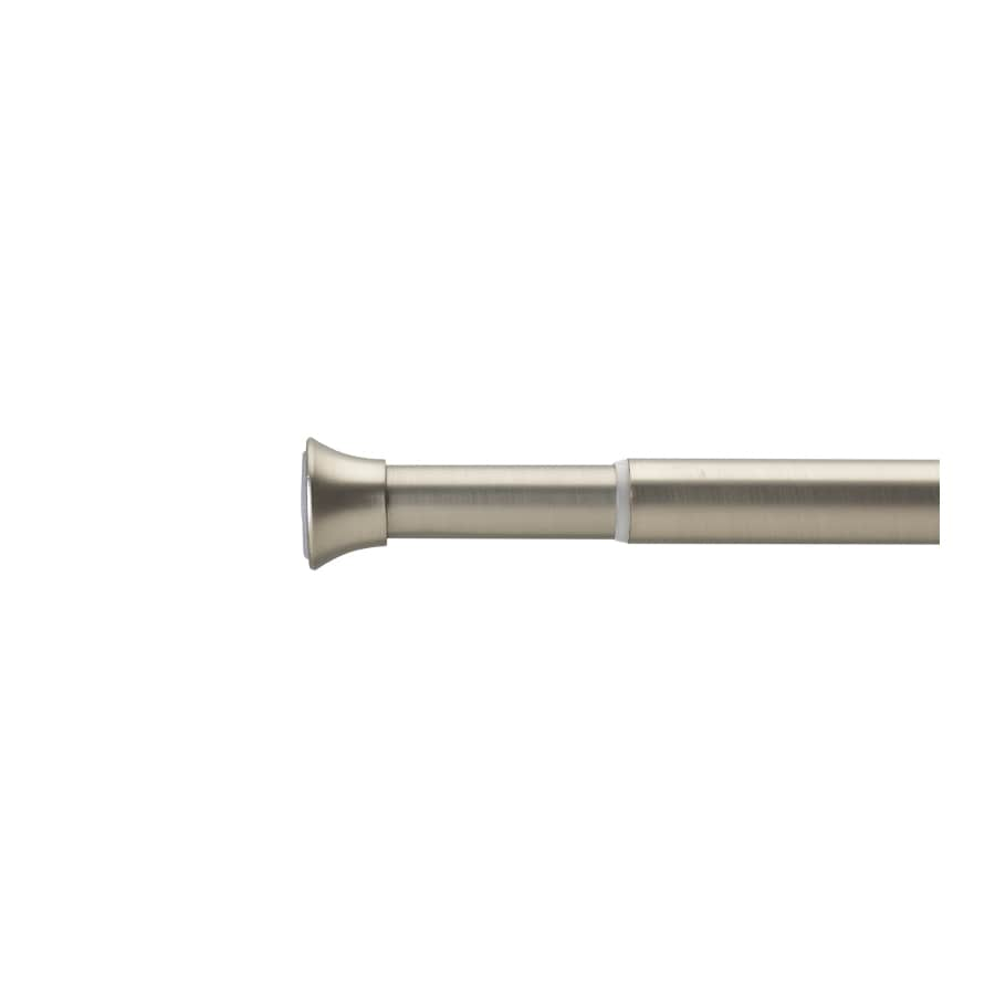 Umbra 48-in to 86-in Nickel Steel Single Curtain Rod