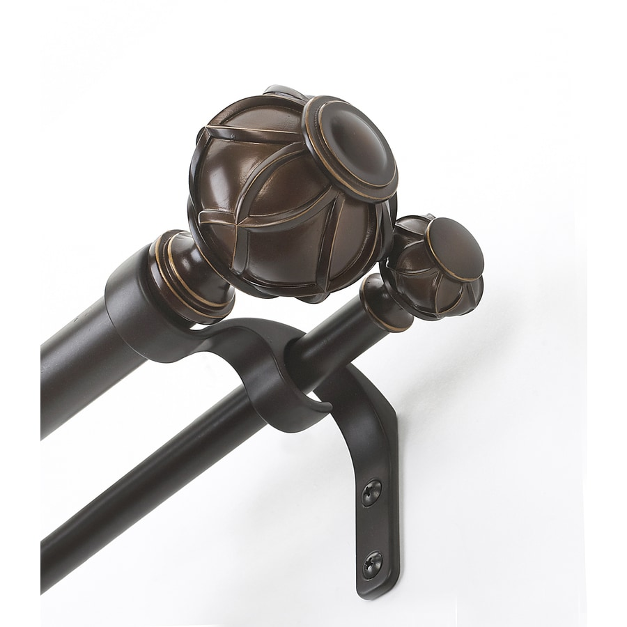 allen + roth 72-in to 144-in Darjeeling Double Curtain Rod