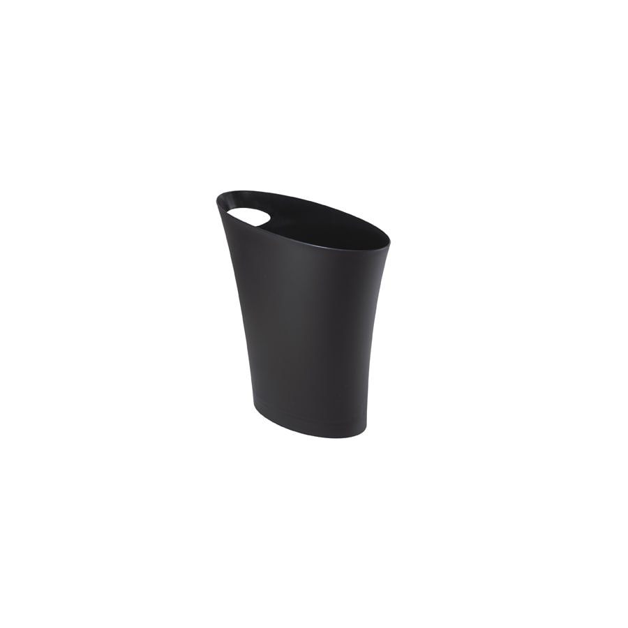 Umbra Skinny 7.5 Liters Black Plastic Trash Can