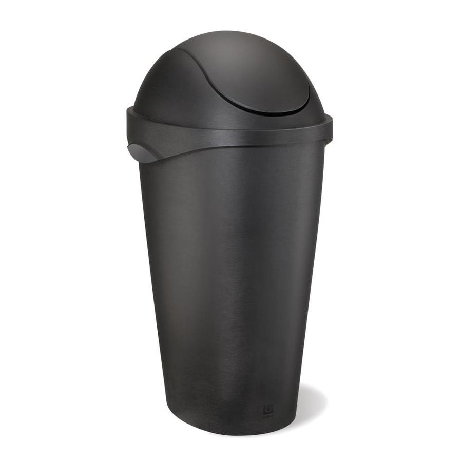 Umbra Swinger 45 Liters Black Plastic Trash Can with Lid