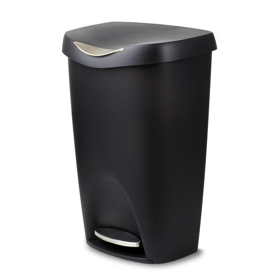 Umbra Brim 50 Liters Nickel Plastic Trash Can with Lid