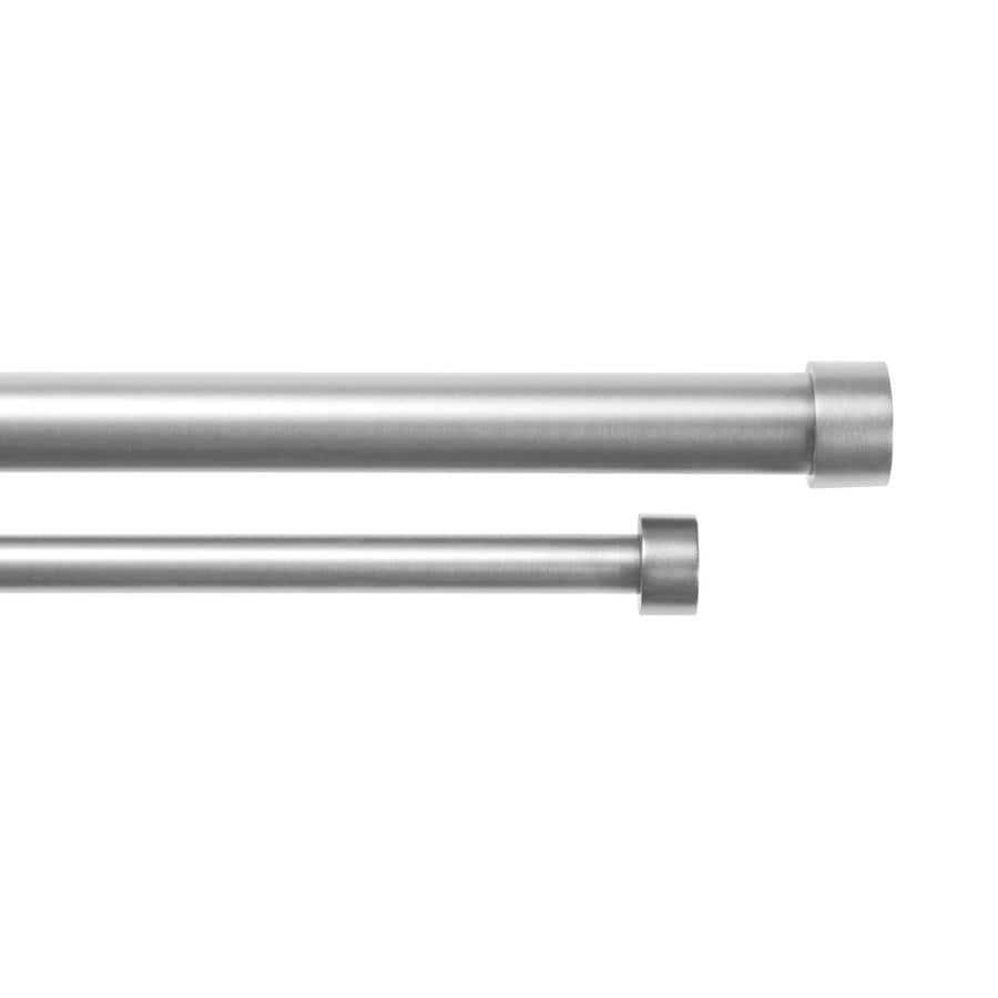 Umbra Cappa 3-Pack 72-in To 144-in Nickel Steel Double Curtain Rod