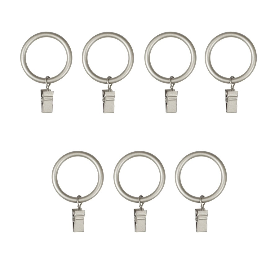 Umbra Clip Ring 7-Pack 1-in Nickel Steel Curtain Rings