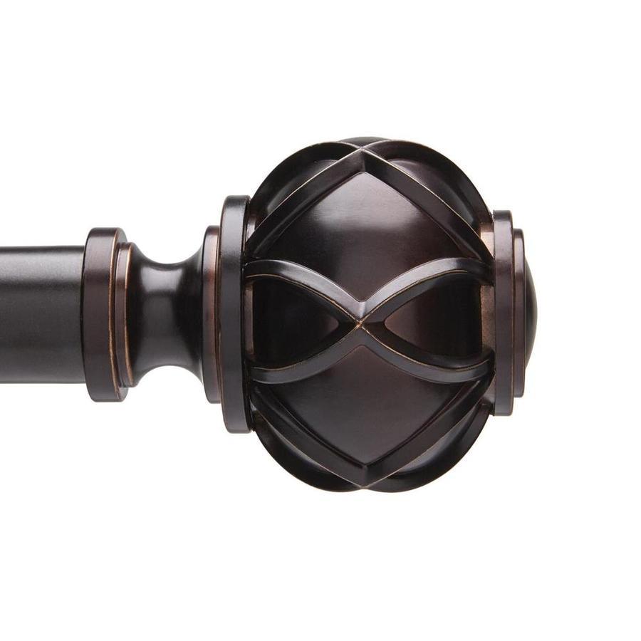 Umbra Celeste 36-in to 88-in Bronze Steel Curtain Rod Set