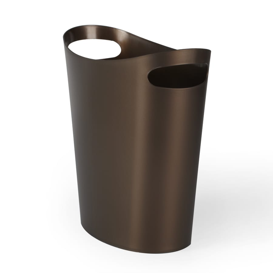 Umbra Slim 0.07 Gallon Bronze Plastic Trash Can