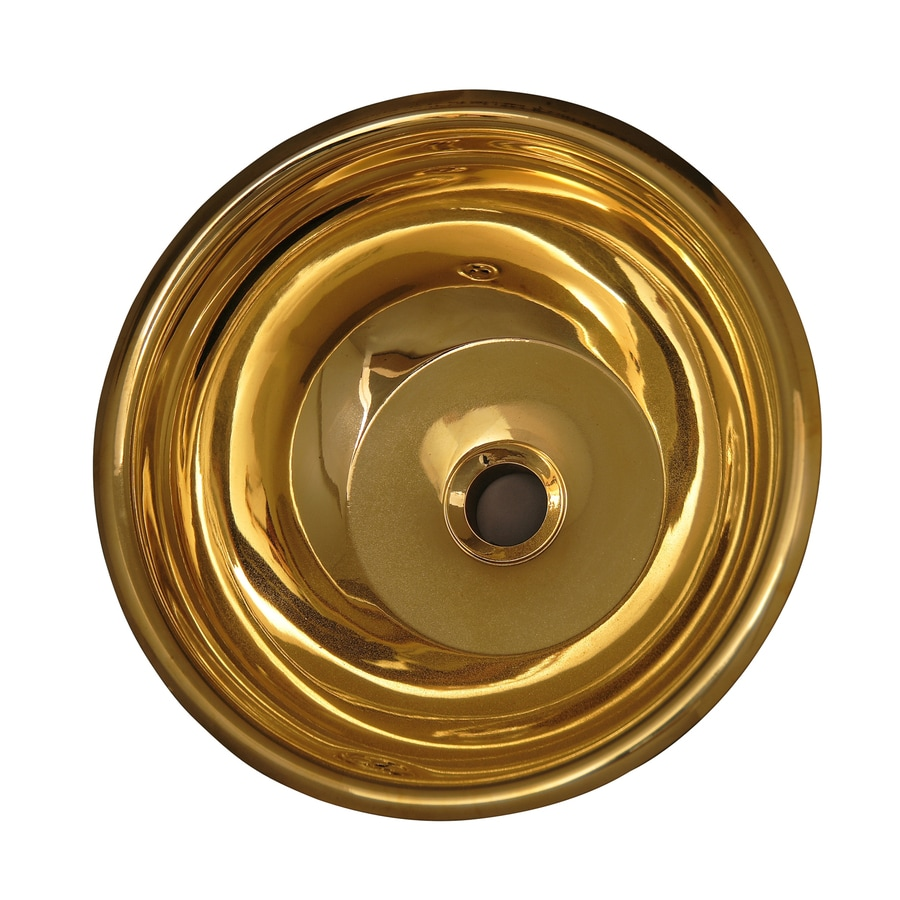 Shop Barclay Polished Brass Brass Undermount Round