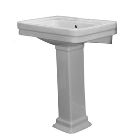 Barclay Sus 34 75 In H White Vitreous China Pedestal Sink