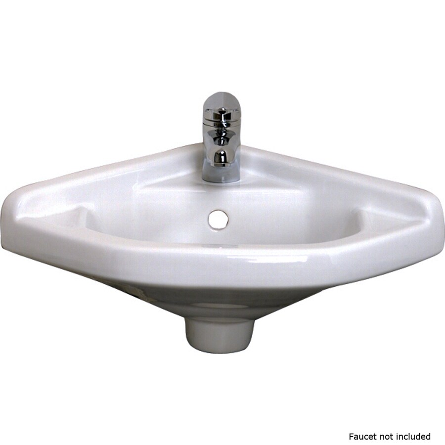 Barclay White Wall Mount Oval Bathroom Sink With Overflow