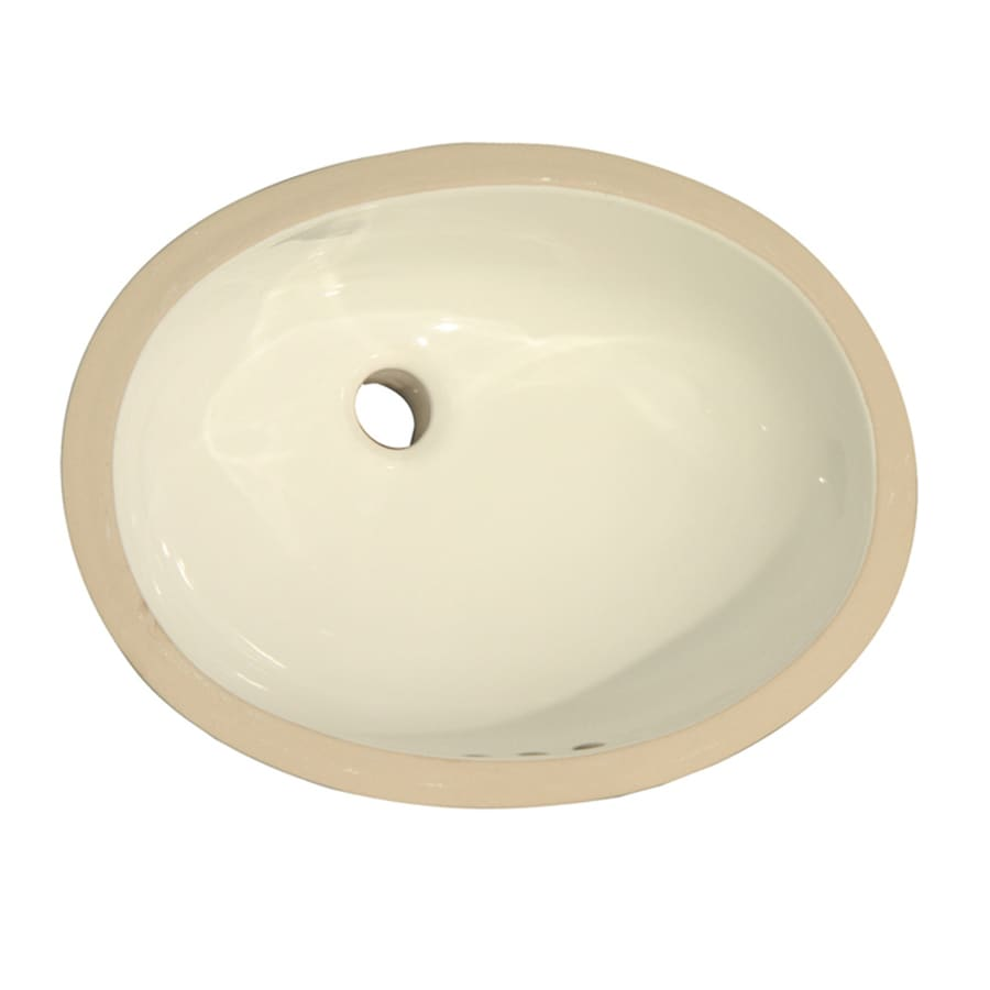 Barclay Rosa Bisque Undermount Oval Bathroom Sink with Overflow