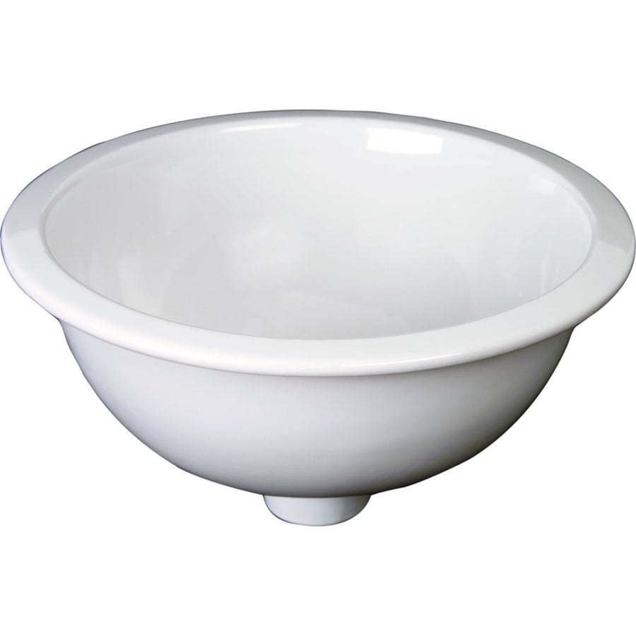 round bathroom sinks shop barclay white bathroom sink at lowes 14257