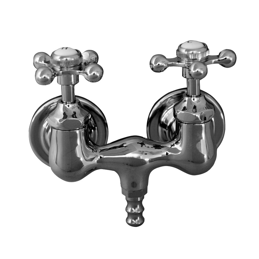 Barclay Polished Chrome 2-Handle Fixed Clawfoot Tub Filler Bathtub Faucet