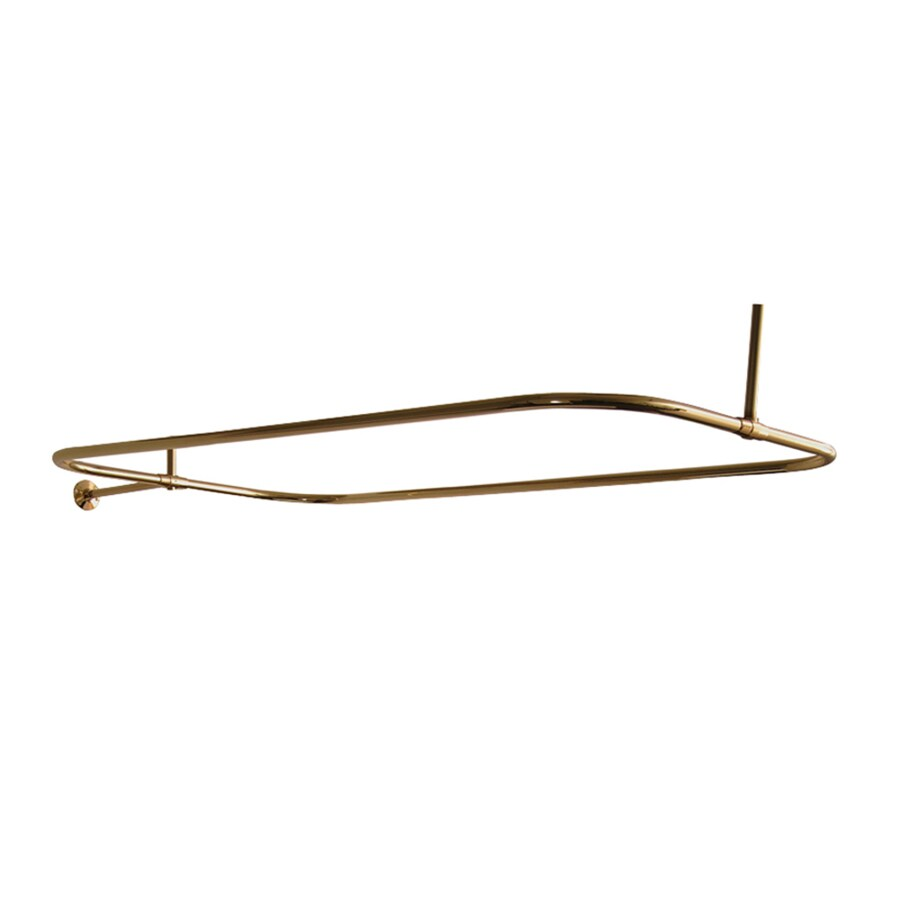 Barclay 54 in polished brass enclosure fixed shower rod at lowes com