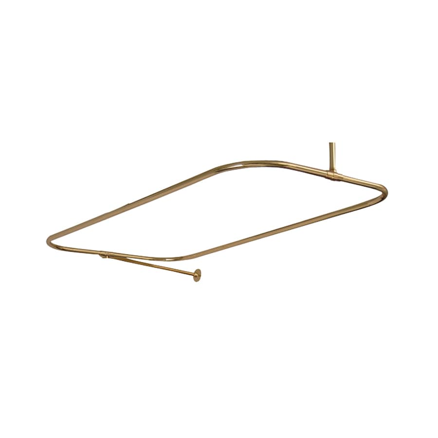 Barclay 54.0-in Polished Brass Enclosure Fixed Shower Rod