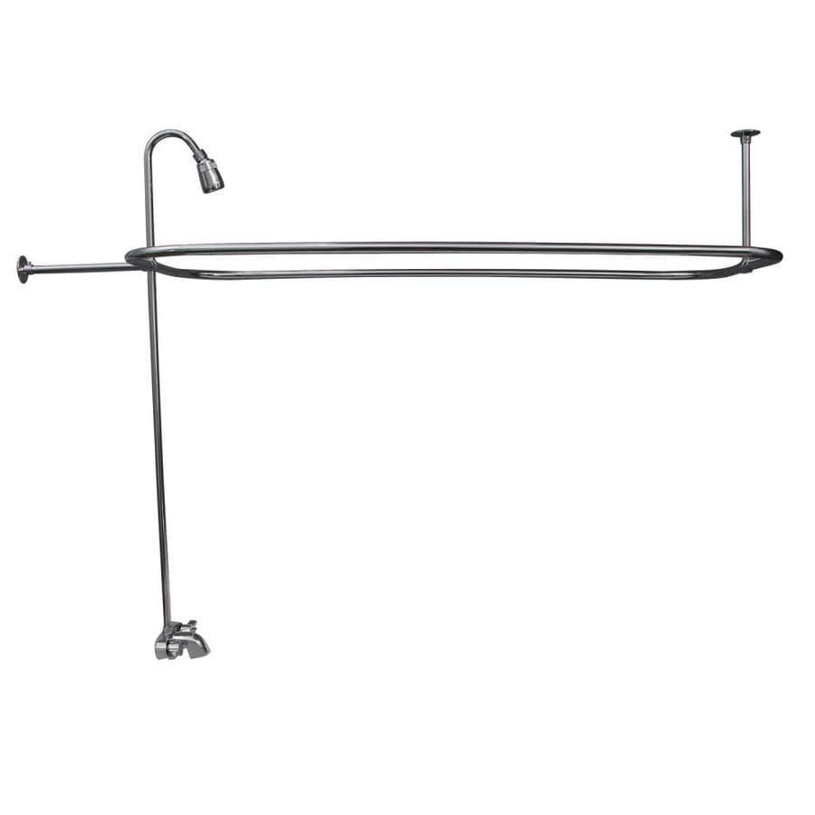 Barclay Polished Chrome 2-Handle Bathtub and Shower Faucet with Valve