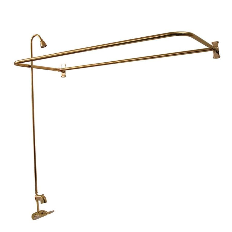 Barclay Rich Polished Brass 2-Handle Bathtub and Shower Faucet with Single Function Showerhead