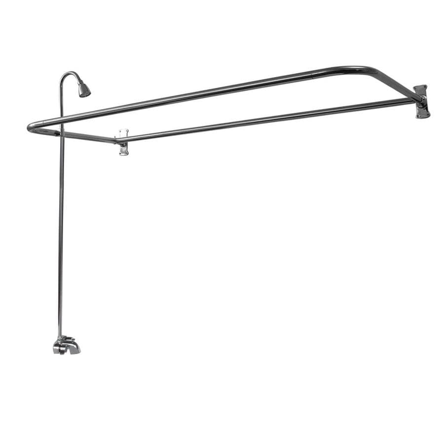 Barclay Polished Chrome 2-Handle Bathtub and Shower Faucet with Single Function Showerhead