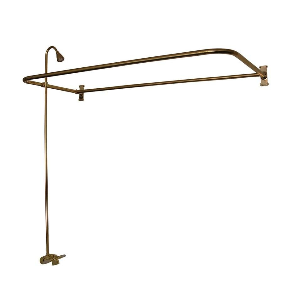 Barclay Polished Brass 2-Handle Bathtub and Shower Faucet with Valve