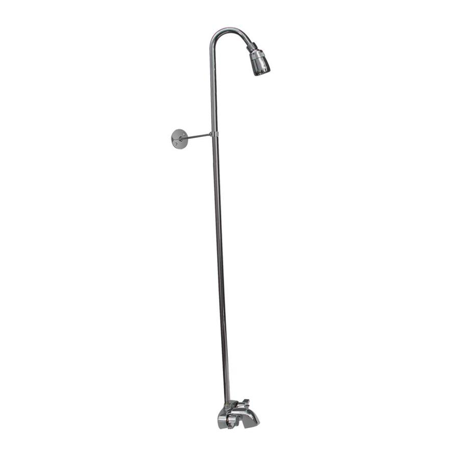Barclay Brilliant Polished Chrome 2-Handle Bathtub and Shower Faucet with Single Function Showerhead