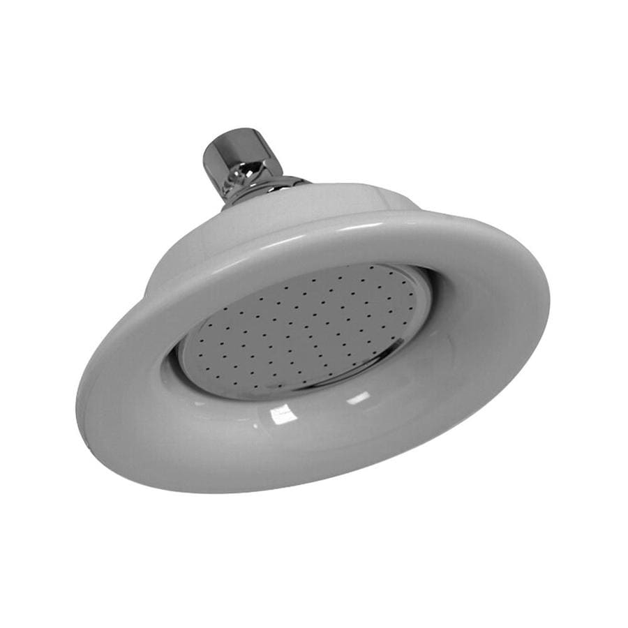 Barclay 6.25-in 2.5-GPM (9.5-LPM) Polished Chrome 1-Spray Showerhead