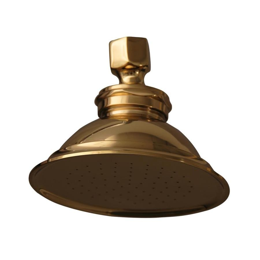 Barclay 4.75-in 2.2-GPM (8.3-LPM) Polished Brass 1-Spray Showerhead
