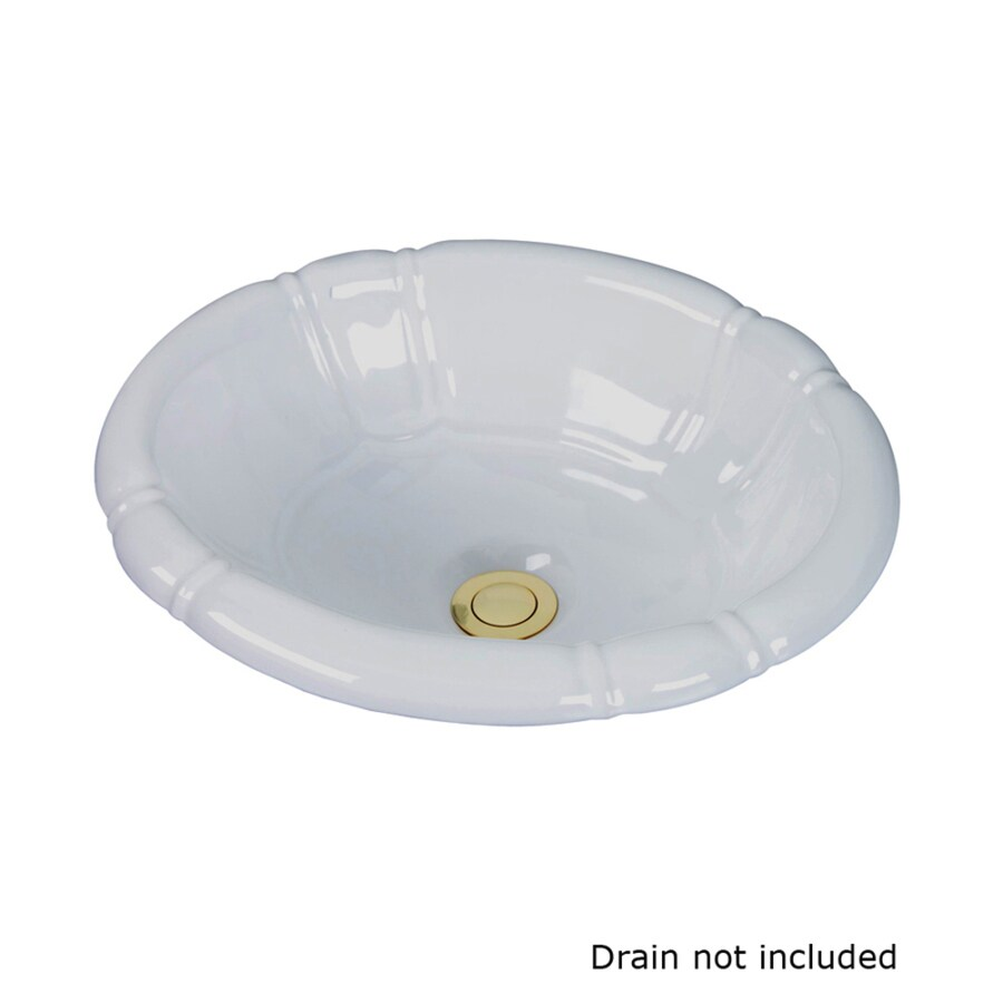 oval drop in bathroom sinks shop barclay white drop in oval bathroom sink with 23897