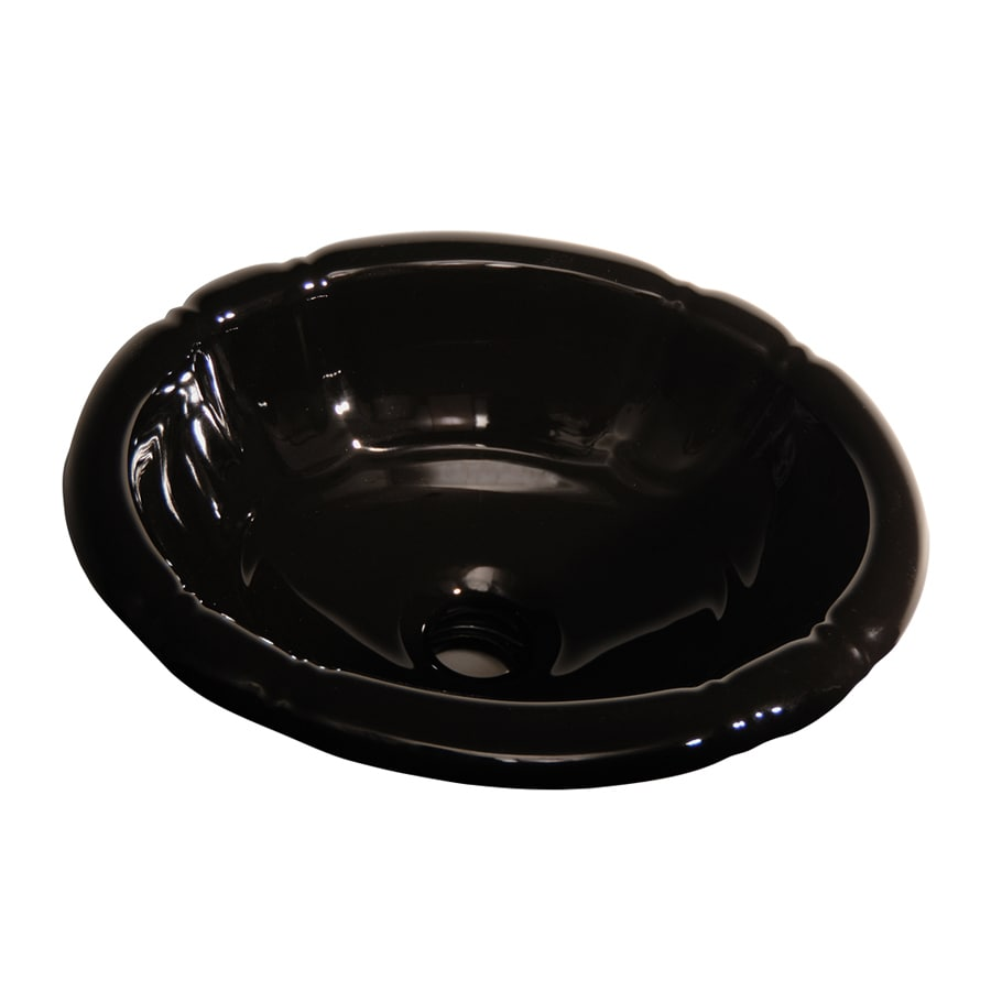 black drop in bathroom sink shop barclay black drop in oval bathroom sink with 22765