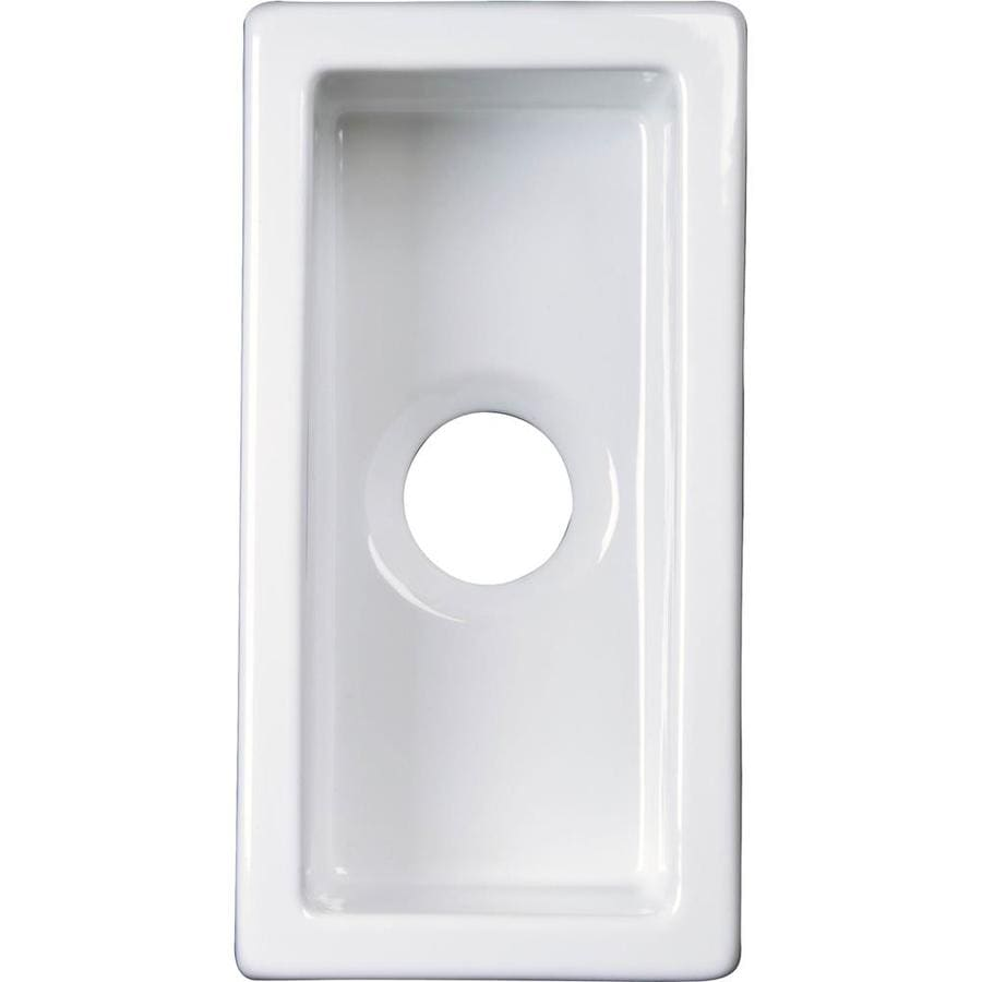 Barclay 9.62-in x 19.0-in White Single-Basin-Basin Fireclay Undermount (Customizable)-Hole Residential Kitchen Sink