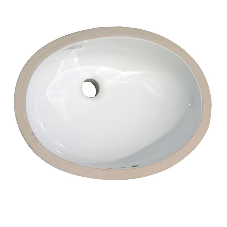 Barclay Rosa White Undermount Oval Bathroom Sink with Overflow
